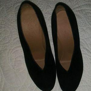 Black suede booty from Hermes Paris